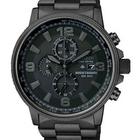 Citizen Men's Chronograph Eco-Drive Nighthawk Black Ion Plated Stainless Steel Bracelet Watch 43mm CA0295-58E | macys.com