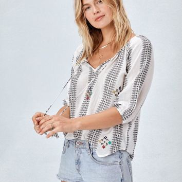Anna Lee  Embroidered Top