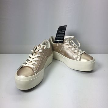Converse Women's One Star Leather Lace Up Platform Sneakers, size 7
