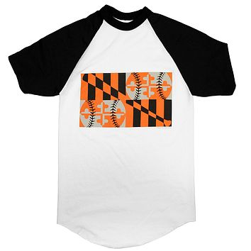 Orange & Black Baseball Flag (Black/White) / Jersey Shirt