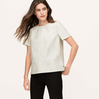 Faux Leather Paneled Tee
