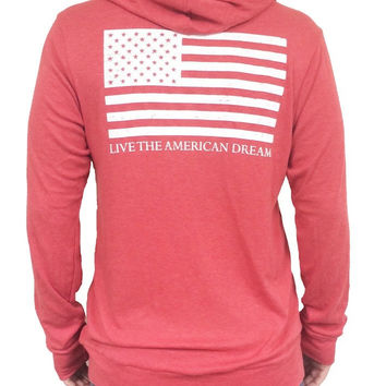 'Live the American Dream' Zip-Up Hoodie (XS & S Only)