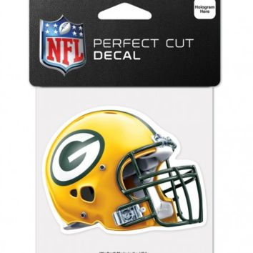 Green Bay Packers 4x4 Helmet Perfect Cut Decal By Wincraft
