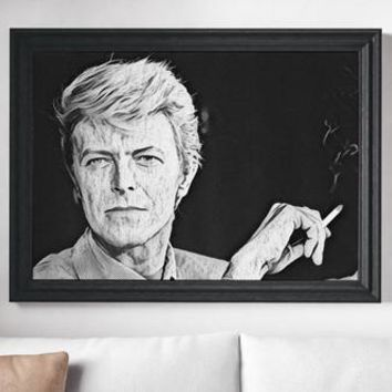 David Bowie Poster Art Painting Print Canvas Print