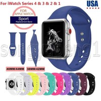 38/42/40/44mm Silicone Band Strap For Apple Watch iWatch Sports Series 1/2/3/4