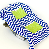 Car Seat Cooler for Infants, Baby, and Toddler, Chevron, Navy, Blue, Green, Polka Dot