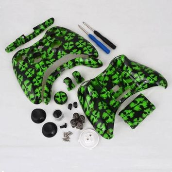 Custom Mods COD Green Ghosts Replacent Parts Full Shell For XBOX 360 Controller