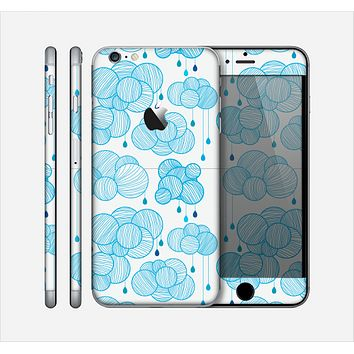 The White and Blue Raining Yarn Clouds Skin for the Apple iPhone 6 Plus