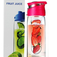 Fruit Infuser Water Bottle Juice 27 ounce Flip Lid Sport