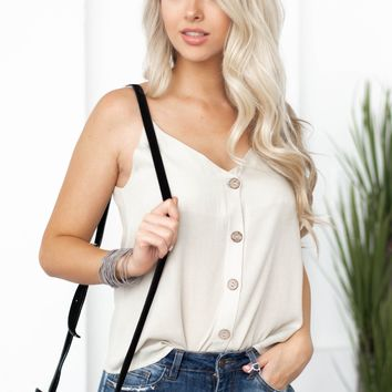 Linda Button Up Tank