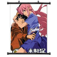 "Mirai Nikki Anime Fabric Wall Scroll Poster (16"" X 21"") Inches"