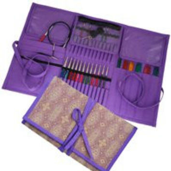 Knitters Pride Combination Knitting Needle Organizer in Violet Dream Large Case