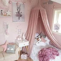 240cm Baby Bed Mosquito Net decoration home bed curtain Round Crib Netting baby tent cotton Hung Dome baby Mosquit Net