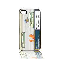 Pokemon Battle Squirtle Charmander iPhone 4 4s Cell Case Black