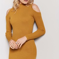 Open-Shoulder Sweater Dress