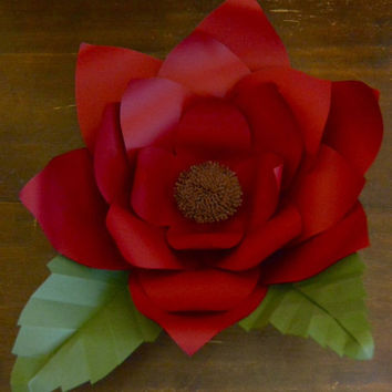 """Giant Paper Flower (21"""") / Wall Decor / Backdrop / Party Decorations / Nursery Decor / Backdrop / Party Supplies"""