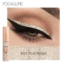 New 2017 Shimmer Color Eye Liner Brand Cosmetics Waterproof Pigments Pink Blue Gold Glitter Eyeliner Focallure Makeup