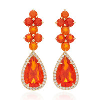 One-Of-A-Kind Long Fire Opal Drop Earrings | Moda Operandi