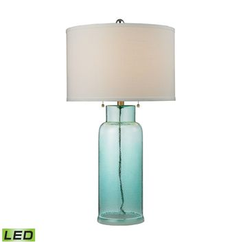 D2622-LED Glass Bottle LED Table Lamp in Seafoam Green - Free Shipping!