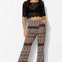 Staring At Stars Wrap Wide-Leg Pant- Blue Multi M