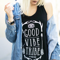 Yoga Tank Top - Good Vibe Tribe