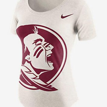 ONETOW NCAA Florida State Seminoles Ladies Nike Nameplate Boyfriend Tri-Blend T-Shirt