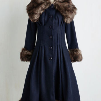 Luxe-y in Love Coat in Navy | Mod Retro Vintage Coats | ModCloth.com