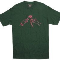 Division of Labor ROSE TOSS shirt with raised puffy ink front graphic
