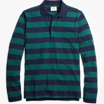Long-Sleeve Stripe Rugby Shirt - Brooks Brothers