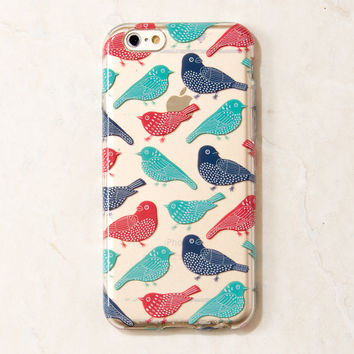 Clear Multicolor Pigeons Bird iPhone 6S/ 6 case