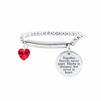 Beaded Inspirational Bracelet With Swarovksi Crystals - Together
