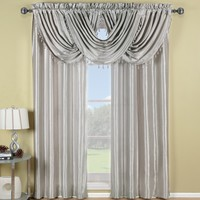 Silver Soho Waterfall Window Treatment