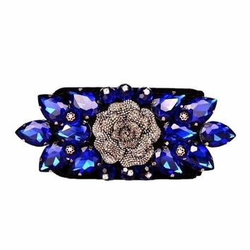 Bohemian Elastic Crystal Punk Fashion Wide Women's Belt