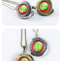 My little pony Big McIntosh/Macintosh  cutie mark MLP vintage pendant locket necklace - ready for gifting - buy 3 get 4th one free