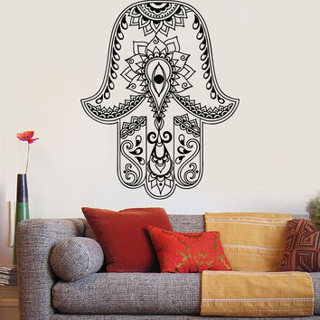 Vinyl Wall Decal God's Hand Hamsa Amulet Judaism Stickers (834ig)