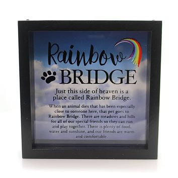 Animal Rainbow Bridge Memory Box Pet