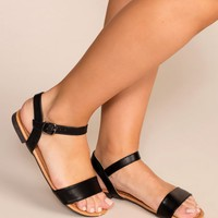 About Town Black Sandals