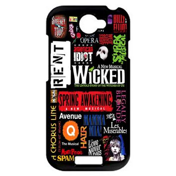 Famous Broadway Musiacal Plays Collage HTC One S Case