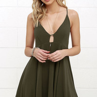 Samana Bay Olive Green Dress