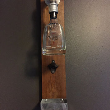 Rustic Wall-mounted Bottle Opener with Tequila Bottle + 30% OFF