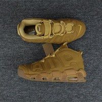 PEAPONVX Jacklish Nike Air More Uptempo Prm Wheat Flax/flax-gum Light Brown For Sale