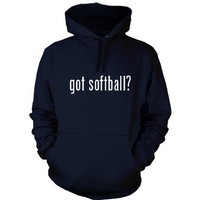 got softball? Funny Hoodie, Navy Blue, Medium