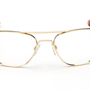 Randolph - Aviator 23k Gold Plated RX Glasses, Clear Demo Lenses
