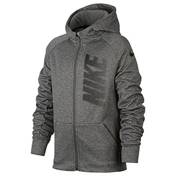 NIKE Boys Full-Zip Therma Training Hoodie Large 857799-063