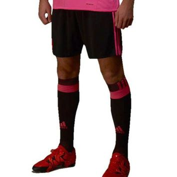 adidas Men's 2016 Scotland Away Climacool Soccer Shorts - Black/Pink