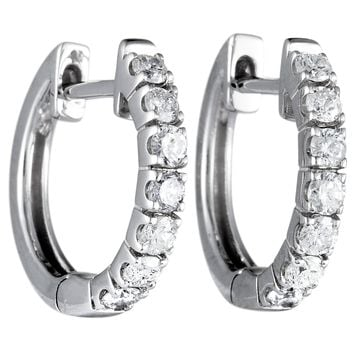 Shop White Gold Huggie Earrings on Wanelo 7512fae114