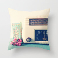 Retro Radio Throw Pillow by Olivia Joy StClaire | Society6