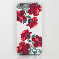 Red Roses iPhone & iPod Case by Heart Of Hearts Designs