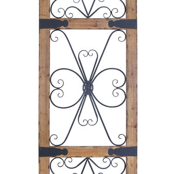 Wood & Metal Wall Panel With Contrasting Colors