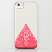 SHE BELIEVED SHE COULD SO SHE DID - TRIANGLE iPhone & iPod Case by Allyson Johnson